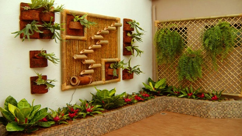 Garden decor ideas with bamboo